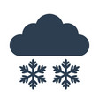 snow icon on white background vector image vector image