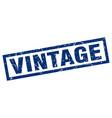 square grunge blue vintage stamp vector image vector image