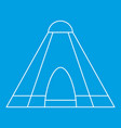 tepee tent icon outline style vector image vector image