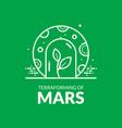 terraforming of mars vector image vector image