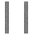 textured tire track on white vector image vector image