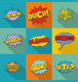 throw icons set flat style vector image