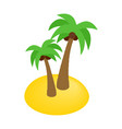 Two palms isometric 3d icon vector image vector image