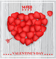 valentine day card design vector image