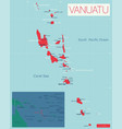 vanuatu detailed editable map vector image vector image
