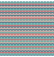 Waves seamless pattern in retro colors vector image vector image