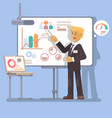 business seminar speaker doing presentation vector image