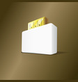 3d stylish usb box flash drive vector image