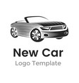 abstract car logo design template modern car vector image vector image
