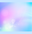 abstract fantasy background of white bokeh over vector image vector image
