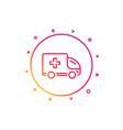ambulance emergency car line icon hospital vector image
