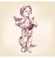 angel or cupid illustration vector image