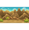 Background Of Mountains And Shrub vector image vector image