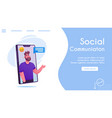 banner friendly man comments online chat vector image