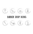 barber icons vector image vector image