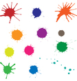 blots color vector image vector image