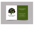 Business Card Template Tree from Wonderland vector image vector image