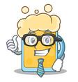 businessman beer character cartoon style vector image