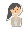 businesswoman avatar elegant isolated icon vector image vector image