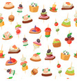 canapes tapas on piece bread appetizer dish vector image vector image