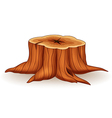 Cartoon of tree stump vector image