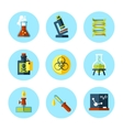 chemistry icon set in modern flat style vector image