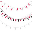 christmas lights candle-shaped garland vector image