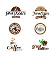 coffee shop business logo set collection vector image