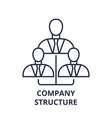 company structure line icon concept company vector image vector image