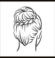 concept of woman hairstyle vector image vector image