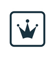 crown icon Rounded squares button vector image vector image