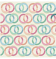 decorative pattern with drawn circles background vector image vector image