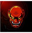 devil head esport mascot logo vector image vector image