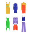 different summer dresses and another clothing vector image