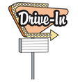 Drive in sign vector image