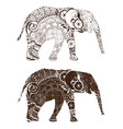 elephant with oriental patterns vector image vector image