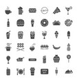fast food solid web icons vector image vector image