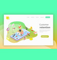 flat isometric concept of retention vector image