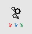 gears icon set vector image vector image