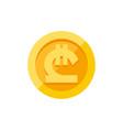 georgian lari symbol on gold coin flat style vector image vector image