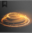 glowing lens flare transparent light effect with vector image vector image