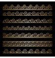 Gold wavy borders vector image