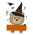 Halloween bear design vector image vector image