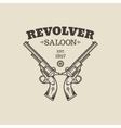 Handgun logo vector image