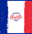 happy bastille day calligraphy design vector image