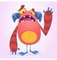 happy cool cartoon fat monster vector image vector image