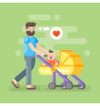 happy father caring his kid vector image vector image