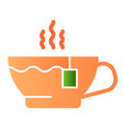 hot tea flat icon mug color icons in trendy flat vector image vector image