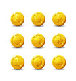 icons coins for game interface vector image