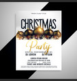 luxury christmas balls flyer poster design vector image